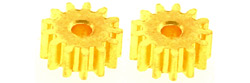 Professor Motor PMTR1202 1 pair 13 tooth brass 48 pitch press-on pinions