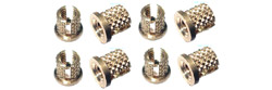 Professor Motor PMTR7012 #4-40 Flanged Brass knurled inserts for plastic parts
