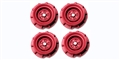 Monogram PMTR8500 Set of 4 Wheels Monogram Stock Cars RED