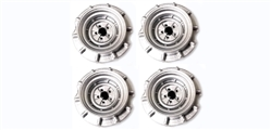 Monogram PMTR8501 Set of 4 Wheels Monogram Stock Cars SILVER