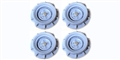 Monogram PMTR8502 Set of 4 Wheels Monogram Stock Cars PETTY BLUE