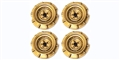 Monogram PMTR8503 Set of 4 Wheels Monogram Stock Cars GOLD