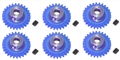 Pro Slot PS-682-31 Polymer Axle Gears 48 Pitch 31 Tooth x 6
