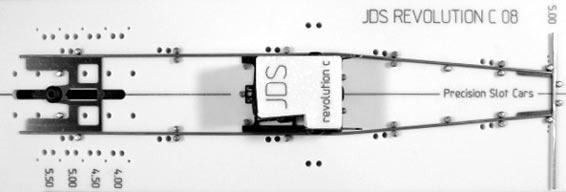 Precision Slot Cars PSC1550T JDS Revolution C-08 SW drag fixture THINNER  Version