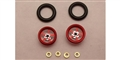 "Pro-Track PT208iR Wheelie Bar Wheels 3/8"" PRO STAR 0.050"" Axle RED"