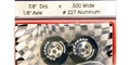 "Pro-Track PT227A 7/8"" Foam ""Daytona Stockers"" FRONT 1/24 Tires 1/8"" Axle"