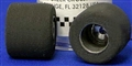 "Pro-Track PT284 1/32 SCALE Rear Tires 0.725"" x 0.650"" 3/32"" Axle Magnesium Hub"