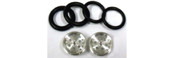 "Pro-Track PT411A 3/4"" O-Ring Drag Fronts 1/16"" Axle TOP FUEL Silver"