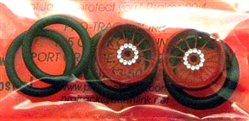 "Pro-Track PT411ER 3/4"" O-Ring Drag Fronts 1/16"" Axle TURBINE RED"