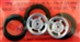 "Pro-Track PT411H 3/4"" O-Ring Drag Fronts 1/16"" Axle DAYTONA Silver"