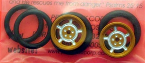 "Pro-Track PT411HG 3/4"" O-Ring Drag Fronts 1/16"" Axle DAYTONA Gold"