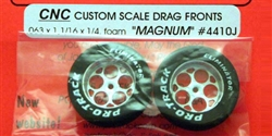 "Pro-Track PT4410J Drag Fronts 1/16"" Axle MAGNUM Foam 1 1/16"" SILVER"