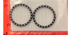 Pro-Track PT457BLK Drag Racing Wheel Bead Locks BLACK w/ Rivets