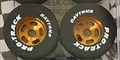"Pro-Track PTN252G 0.910"" x 0.800"" Daytona Tires 1/8"" Axle Natural Rubber"