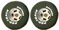 "Pro-Track PTN327A Daytona Stock Car Rears 0.825"" x 0.800"" 1/8"" Axle Silver Natural Rubber"