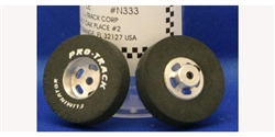 "Pro-Track PTN333 TQ Drag Rears 1.010"" x 0.250"" 3/32"" Axle Silver Natural Rubber"