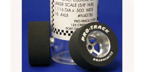 411I Gun Metal 1 3//16 x 500 Rear /& Front Drag Tire Pro Track N408I