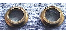 "Slick Seven S7-142 Brass Reducer Bushings 1/4"" to 3/16"" - 1 pair"