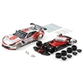 SCALEAUTO SC-6179B 1/32 Analog Chevrolet Corvette C7R GT3 Cup Edition Silver/Red