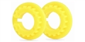 Slot.it SICH101 18 Tooth Pulley for 4WD System - Yellow  - 2 / card