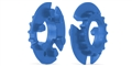 Slot.it SICH107 16 Tooth Pulley for 4WD System - Cyan - 2 / card