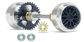 Slot.it SIKK03C Carrera Starter Kit 17.3x9.75mm Aluminum Wheels Z26 Crown 9 Tooth Pinion