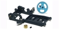 Slot.it SIKK13B Sidewinder 0.5mm OFFSET Conversion kit with motor mount, gears - for HRS Chassis Applications and Standard type Mabuchi Can Motors