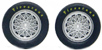 Slot.it SIPA45 wheel inserts for Chaparral 2E - fits SIPA17/SIPA24 size wheels