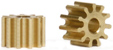 Slot.it SIPI6711o 11 Tooth Brass Anglewinder Pinion 6.75mm diameter