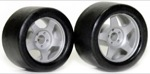 Sloting Plus SLPLMS2 Slick Rear RUBBER Tires 18x10mm