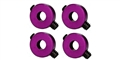 "Sloting Plus SP061100 Axle ""stoppers"" for 3/32"" axle Purple ultra thin x 4"