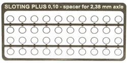 "Sloting Plus SP062001 0.1mm Stainless Steel axle spacers for 3/32"" axle x 40"