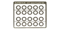 Sloting Plus SP069101 0.1mm Stainless Steel GUIDE spacers for 1/24 guides x 20