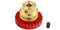 Sloting Plus SP070025 25 Tooth INLINE Crown Axle Gear Bronze Hub