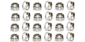 Sloting Plus SP151312 Stainless Steel M2 Nylon Insert Lock Nuts 20 pcs.