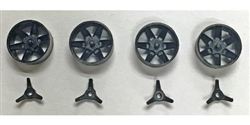Thunderslot THIN001C Lola Wheel Inserts with Three Pole Knock-offs