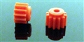 Thunderslot THPN12PL Plastic Pinion 12 Teeth (2 pcs) orange