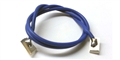 TQ RACING TQ138 1' 18 Gauge BLUE Silicone Lead Wire w/ Silver Clips