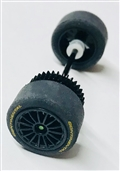 Scalextric Rear wheels, tires, bushings, gear & axle assembly for Audi R*