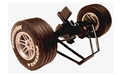 Scalextric W8443 Front Wheels, Tires, Axle and Front Suspension detail for McLaren Formula One C2262, C2262A, C2263 & C2263A
