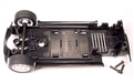 Scalextric W8664 Chassis assembly with mounting screws and front axle assembly for Mini Cooper Set Cars