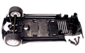 Scalextric W8697 Chassis assembly with mounting screws and front axle assembly for C2484 & C2485 Mini Cooper