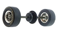 Scalextric W8850 Rear Wheels, Tires, Axle and Gear C2566 L88 Corvette