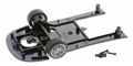 Scalextric W9075 Chassis assembly FRONT SECTION with mounting screws and front axle assembly for C2630 & C2630A Maserati MC12