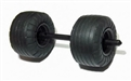 "Scalextric W9119 Front axle & wheel set with tires for C2635 ""Batman Begins"" Batmobile"