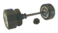 Scalextric W9185 Rear Axle Assembly (Opel Vectra DTM)