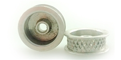 "Wheels Etc WHE2535 Flanged 1/24  Front Free Wheeling Wheels for 1/8"" Plain Axle"