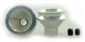 "Wheels Etc WHE3520 Flanged 1/24  Front Setscrew Wheels for 1/8"" Plain Axle"