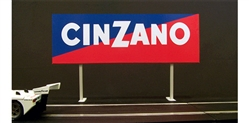Royale Slot Car Accessories Z5004 1/32 Cinzano Trackside Billboard