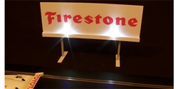 Royale Slot Car Accessories Z5508 1/32 ILLUMINATED FIRESTONE Classic Trackside Sign